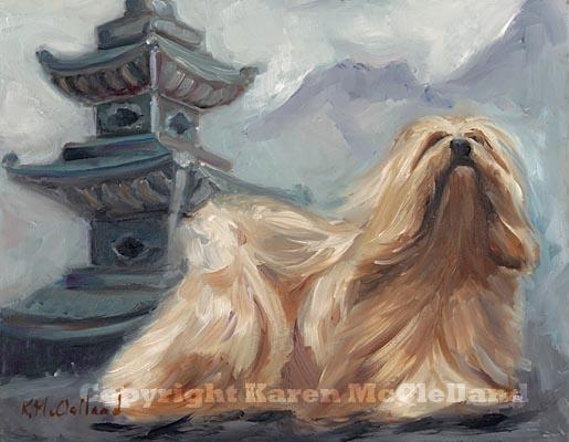 Lhasa Apso Dog Limited Edition Giclee Art Print Dog