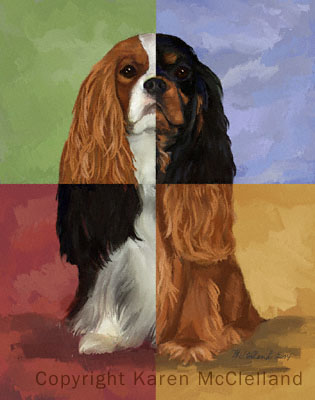 The Musketeer limited edition Cavalier King Charles print